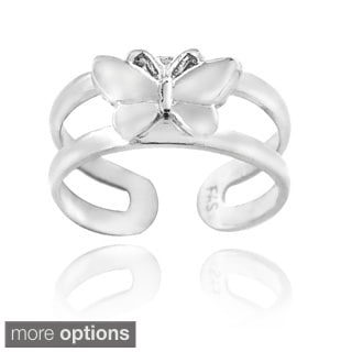 Mondevio Sterling Silver Butterfly Toe Ring
