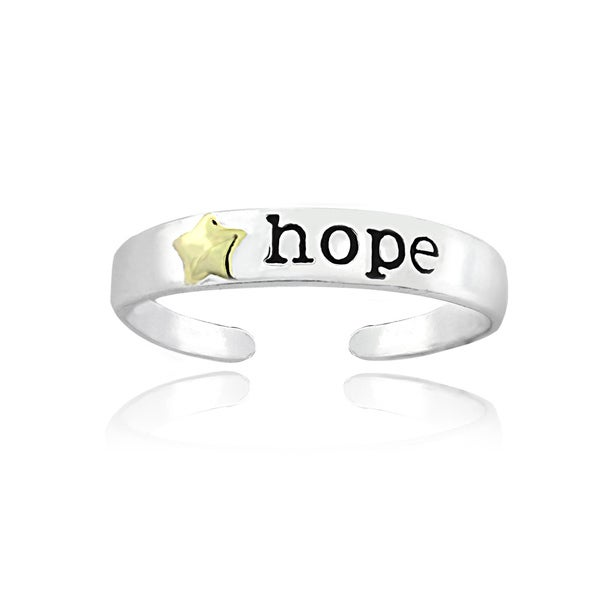 Mondevio 18k Gold and Silver 'Hope' Toe Ring