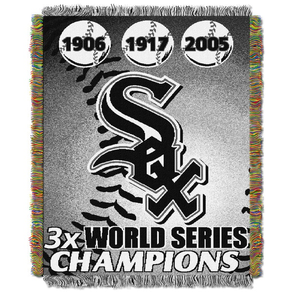 MLB Chicago White Sox Woven Tapestry Throw