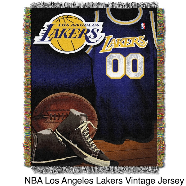 NBA Los Angeles Lakers Woven Tapestry Throw