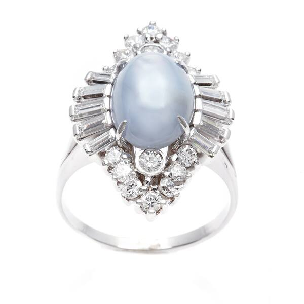 5075ca0f08a9d Shop 18k White Gold 1 3/4ct TDW Star Sapphire Cocktail Ring (G-H ...