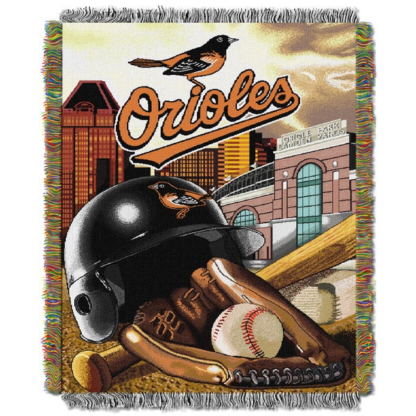 MLB Baltimore Orioles Woven Tapestry Throw