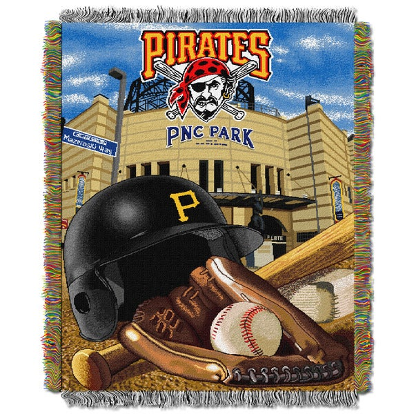 MLB Pittsburgh Pirates Woven Tapestry Throw