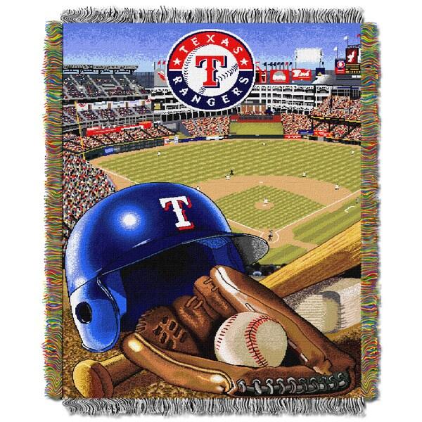 MLB Texas Rangers Woven Tapestry Throw