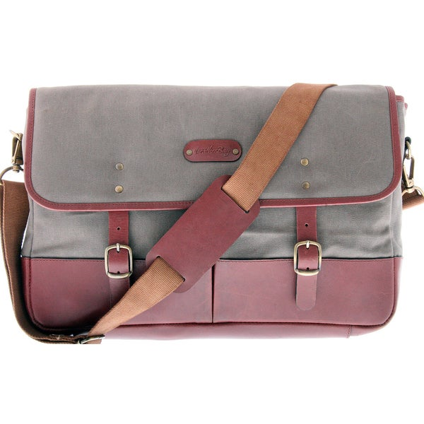Leatherbay Prato Laptop Messenger Bag