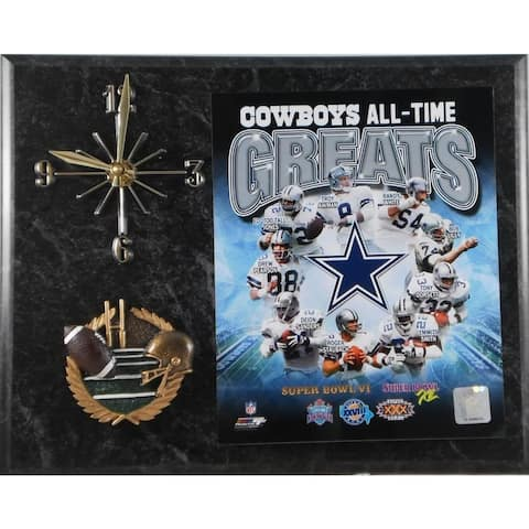 Dallas Cowboys 'All Time Greats' Clock