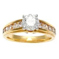 Sofia 14k Yellow Gold 1 3/4ct TDW IGL Certified Diamond Engagement Ring