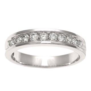 Sofia Women's 18k White Gold 1/2 CT TDW Diamond Wedding Band (More options available)