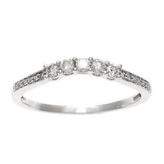 Sofia 14k White Gold 1/4ct TDW Five Stone Diamond Promise Ring