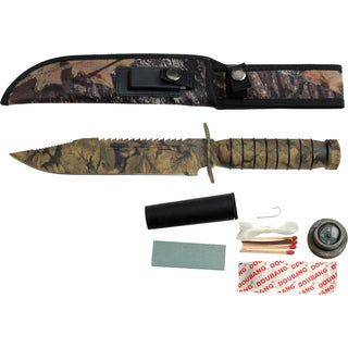 13-inch Master Cutlery Fixed Blade Camo Survival Knife