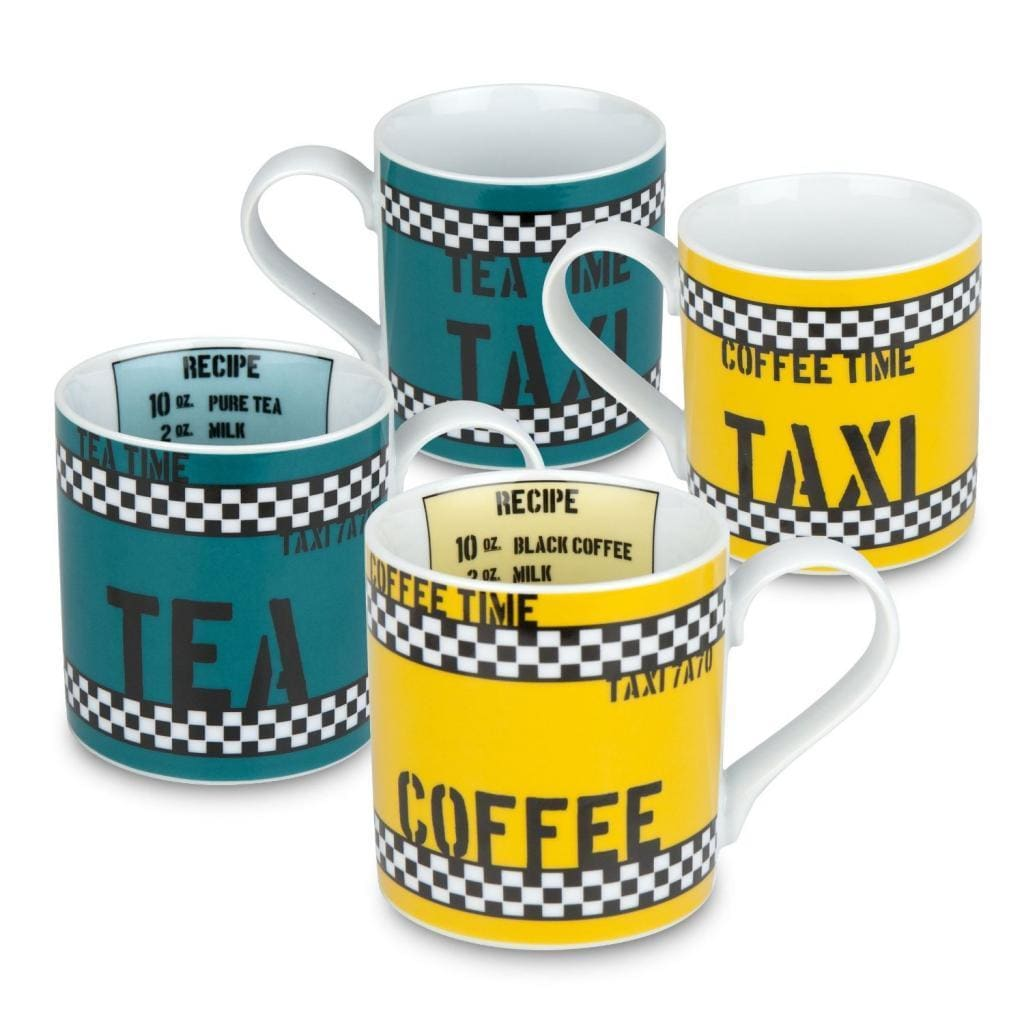 Konitz Taxi' Tea Time and Coffee Time Mugs (Set of 2) (Mu...
