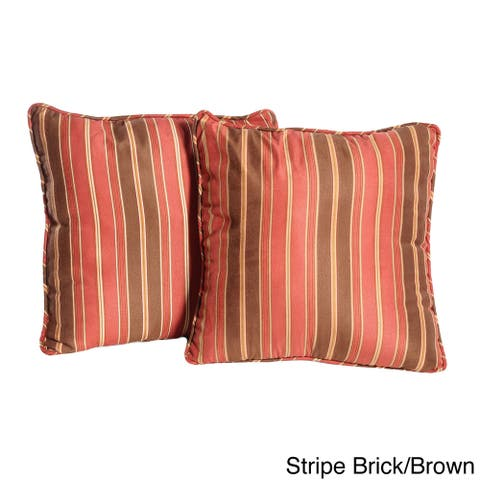 Micro Suede Stripe Throw Pillows (Set of 2)