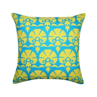 Handmade Blue Khari Printed Toss Throw Pillow (India)