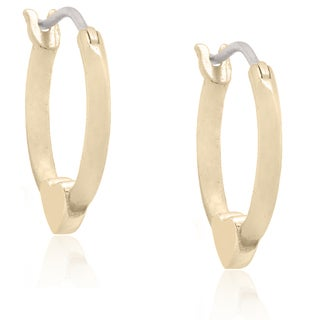 Molly and Emma 18k Gold Overlay Children's Heart Hoop Earrings