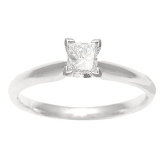 Sofia 18k Gold 1/2ct TDW IGL Certified Diamond Solitaire Engagement Ring