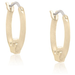 Molly and Emma 18k Gold Overlay Children's Crown Hoop Earrings