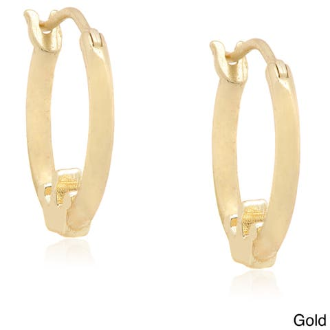 Molly and Emma Silver Children's Crown Hoop Earrings