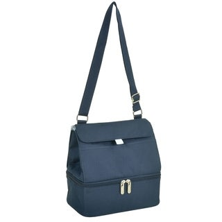 Picnic at Ascot Fashion Insulated Lunch Bag - Two Lever Cooler- Navy
