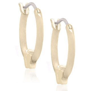 Molly and Emma 18k Gold Overlay Children's Butterfly Hoop Earrings