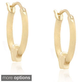 Molly and Emma Silver Children's Butterfly Hoop Earrings