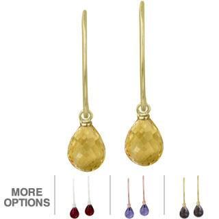 Glitzy Rocks Sterling Silver Gemstone Briolette-cut Dangle Earrings|https://ak1.ostkcdn.com/images/products/8506813/Glitzy-Rocks-Sterling-Silver-Gemstone-Briolette-cut-Dangle-Earrings-P15791358v.jpg?impolicy=medium