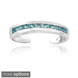 Icz Stonez Sterling Silver Cubic Zirconia Toe Ring