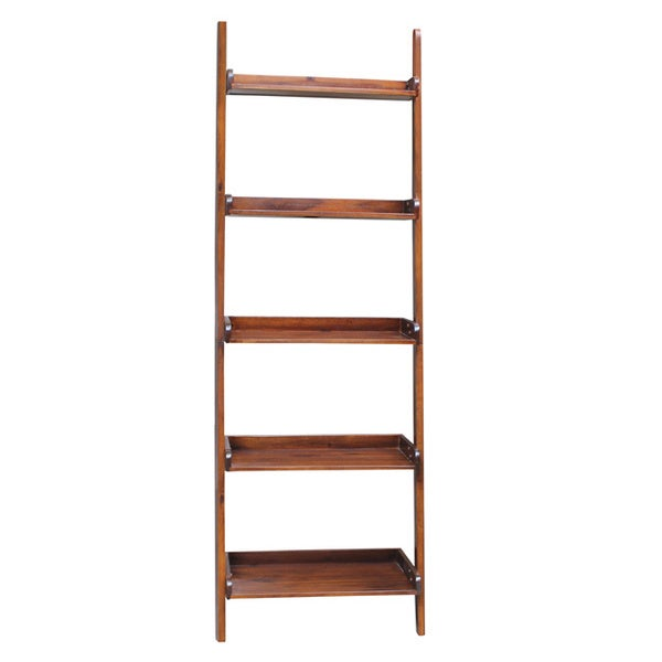 Brown Lean To 5 Tier Shelf Unit Free Shipping Today
