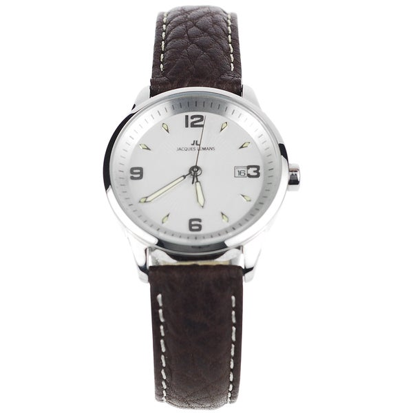 Jacques Lemans Women's Stainless Steel Brown Analog Leather Band Watch