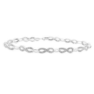Sterling Silver 1/3ct TDW Diamond Infinity Bracelet (H-I, I1-I2)