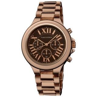 Vernier Women's Boyfriend Quartz Rose Roman Numeral Bracelet Watch