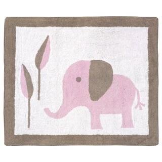 Sweet JoJo Designs Mod Elephant Accent Floor Rug