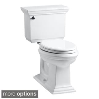 Kohler K-3817 Memoirs Stately Comfort Height 2-piece Elongated 1.28 GPF Ttoilet