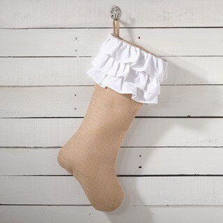 Ruffled Jute Stocking