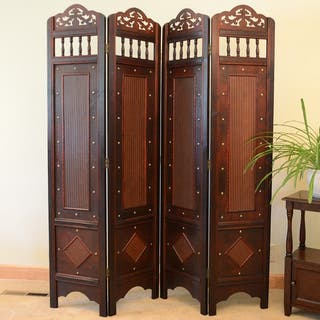 Jamestown Room Divider Screen 4-panel Wooden Frame|https://ak1.ostkcdn.com/images/products/8507011/Jamestown-Room-Divider-Screen-4-panel-Wooden-Frame-P15791786.jpg?impolicy=medium