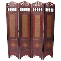 Georgetown Room Divider Screen 4 Panel Wooden Frame