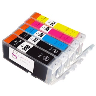Sophia Global Compatible Canon PGI-250/ CLI-251 Black, Cyan, Magenta, Yellow Ink Cartridges (Pack of 5)