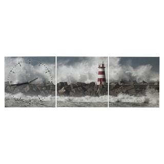 Elements 35.5x12-inch Ocean Wall Canvas Clock