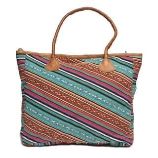 Handmade Madhul Leather Tote Bag (Nepal)|https://ak1.ostkcdn.com/images/products/8508745/Madhul-Leather-Tote-Bag-Nepal-P15793073.jpg?impolicy=medium