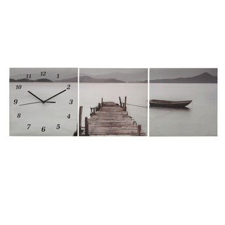 Elements 35.5x12-inch Dock View Canvas Clock