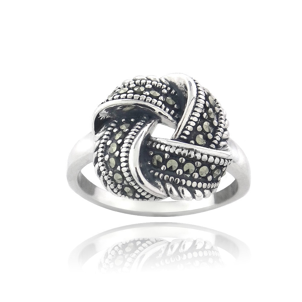cbca801a2 Buy Marcasite Gemstone Rings Online at Overstock | Our Best Rings Deals