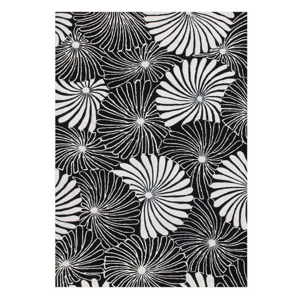 Alliyah Handmade Black New Zealand Blend Wool Rug (9x12)