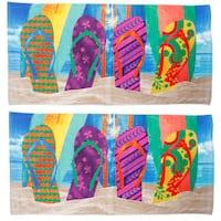 Flip Flop Surfboard Beach Towel 2 Pack
