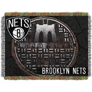 NBA Brooklyn Nets Photo Real Woven Tapestry Throw