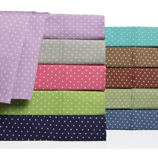 Swiss Polka-dot Colorful 300 Thread Count Cotton Sheet Set