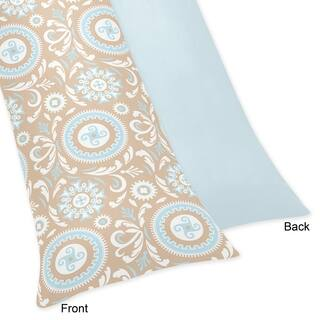 Blue and Taupe Hayden Full Length Double Zippered Body Pillow Case Cover by Sweet Jojo Designs|https://ak1.ostkcdn.com/images/products/8511749/P15795720.jpg?impolicy=medium