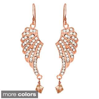 Crystal Angel Wings Dangle Earrings