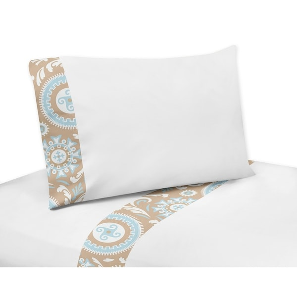 Sweet Jojo Designs Sheet Sets for Blue and Taupe Hayden Bedding Collection