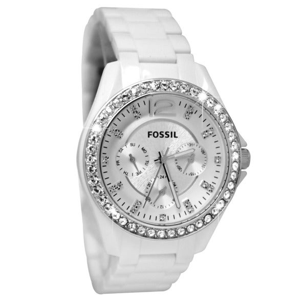 fossil s es3252 white free shipping