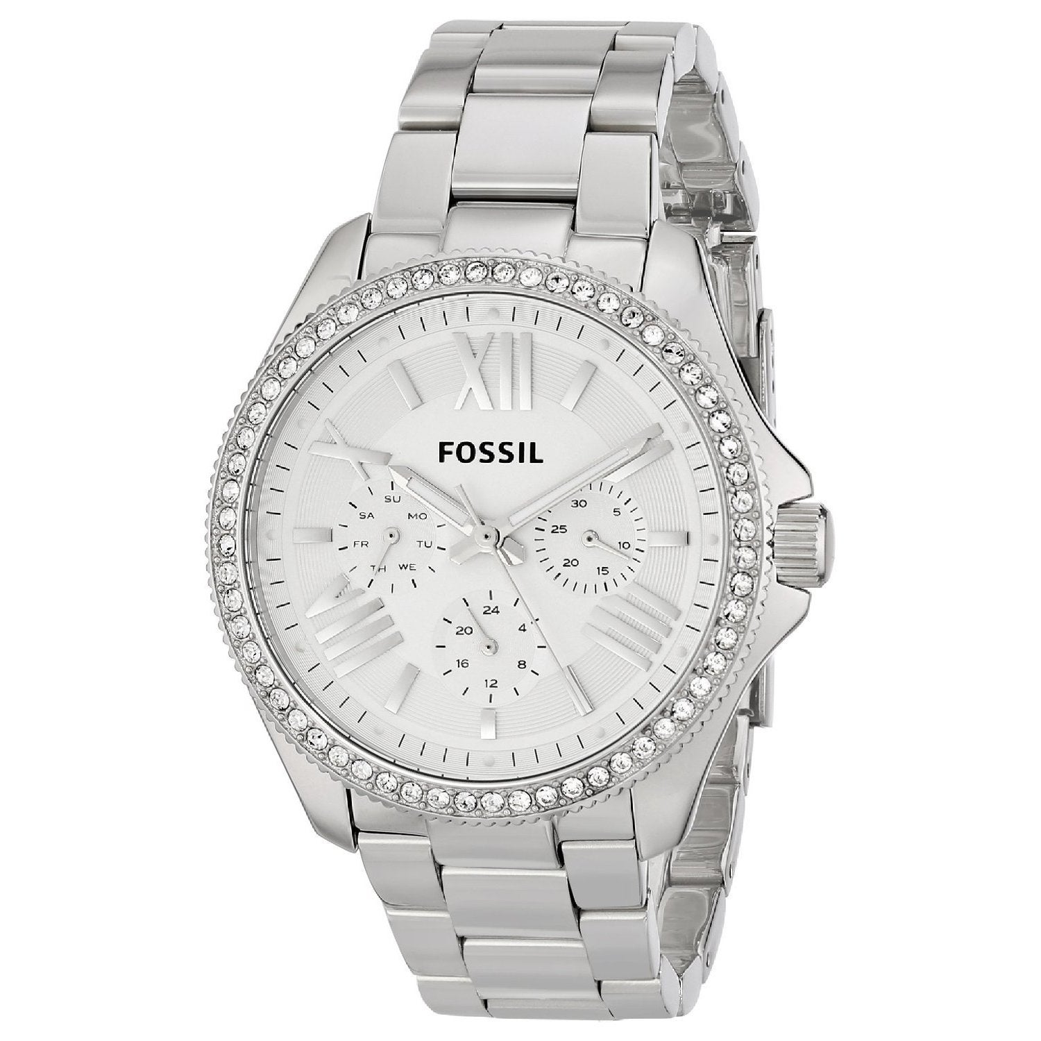 """Fossil Women's AM4481 """"Cecile"""" Stainless Steel Watch, Sil..."""