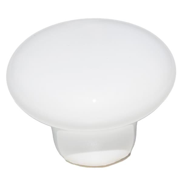 GlideRite Round White Ceramic Cabinet or Dresser Knob (Pack of 10)